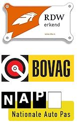 RDW Erkend, Bovag, Nationale Autopas (NAP)